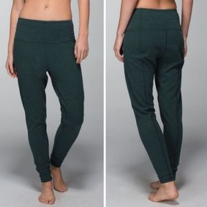 Lululemon Atman Pant Heathered Fuel Green SIZE 8